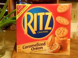 RITZ CRACKERS CARAMELIZED ONION