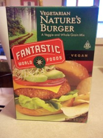 VEGETARIAN NATURE'S BURGER PKG. 1