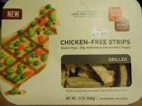CHICKEN-FREE STRIPS OUTSIDE PKG.