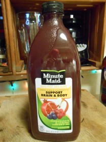 pomegranate blueberry juice - minute maid