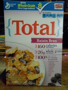 total raisin bran cereal