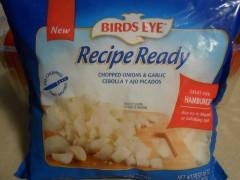 BIRD'S EYE frozen onions and garlic