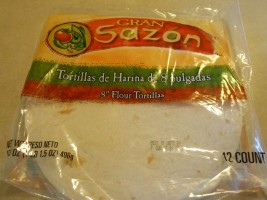 Gran Sazon flour tortillas