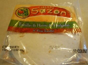 Gran Sazon flour tortillas