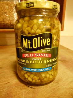 MT. OLIVE BREAD AND BUTTER RELISH DELI STYLE
