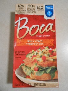 SPICY CHIK'N VEGGIE PATTIES BOCA