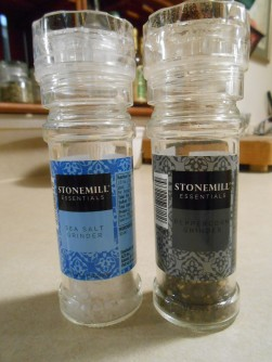 STONEMILL PEPPER AND SALT GRINDERS
