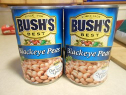 BUSH'S BLACKEYE PEAS CANS