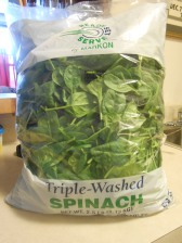 GFS BABY SPINACH 2 AND A HALF POUNDS