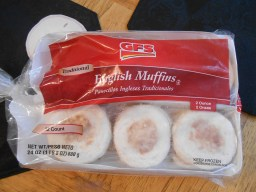 GFS ENGLISH MUFFIN 12 PACK