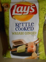 LAYS KETTLE COOKED WASABI GINGER POTATO CHIPS