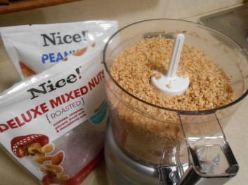 NICE DELUXE MIXED NUTS MADE INTO CRUMBLES