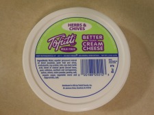 TOFUTTI CREAM CHEESE HERBS & CHIVES