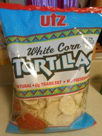 UTZ WHITE CORN TORTILLAS