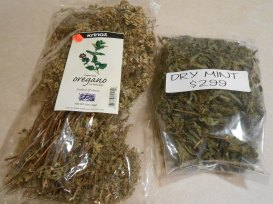 WEST SIDE MARKET DRIED OREGANO AND DRIED MINT