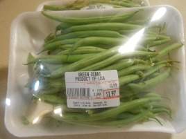 WHOLE GREEN BEANS PACKAGE
