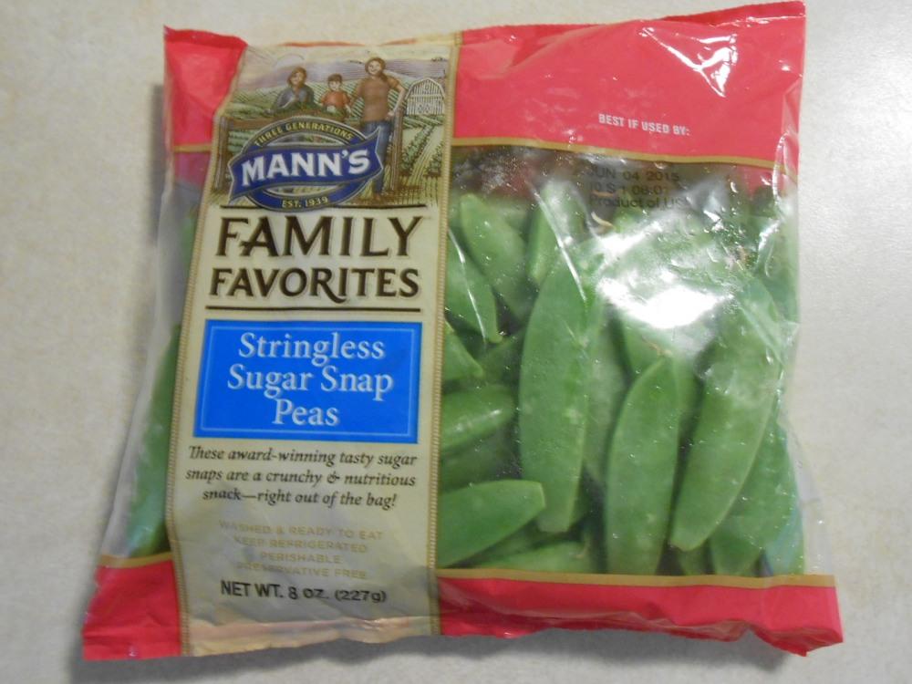 MANN'S FAMILY FAVORITES STRINGLESS SUGAR SNAP PEAS FROZEN