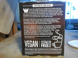 SUGAR IN THE RAW BACK LABEL