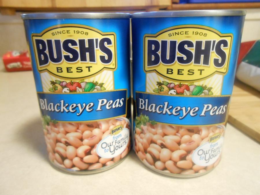 BUSH'S BLACKEYE PEAS CANS