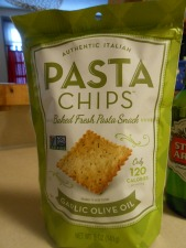 PASTA CHIPS WITH BLUE DIAMOND WASABI PESTO