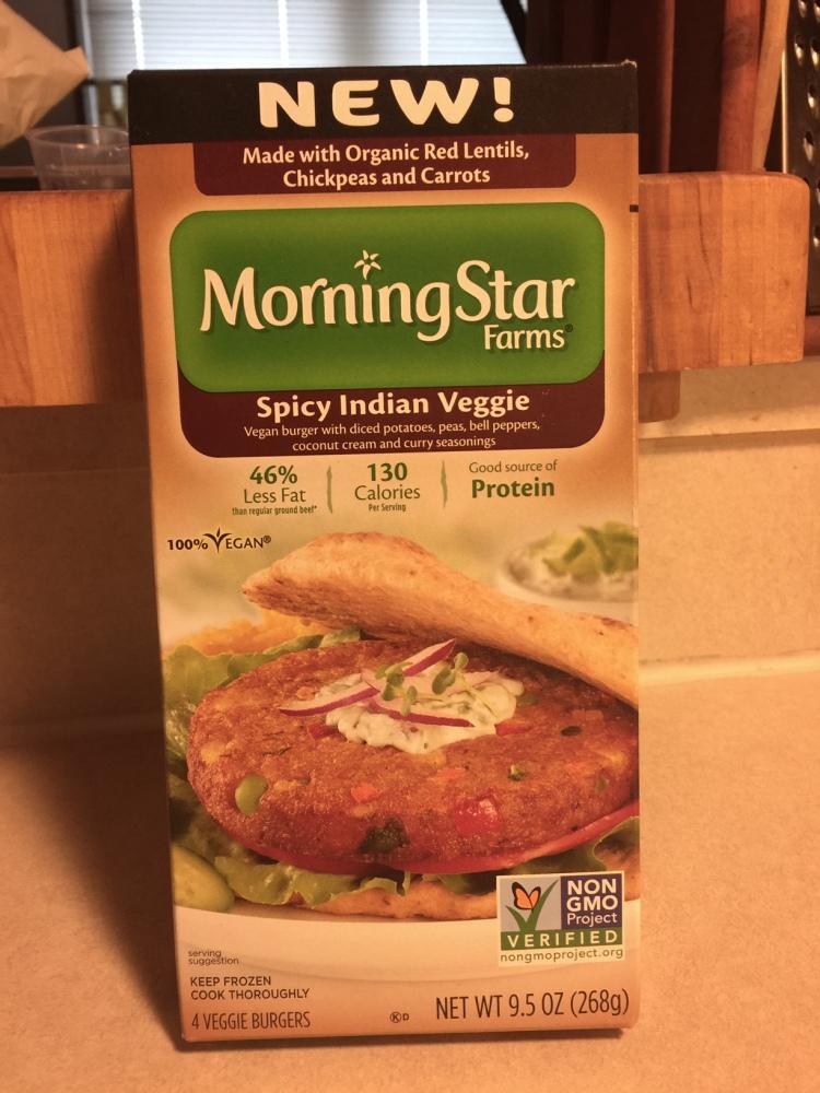 MORNINGSTAR SPICY INDIAN VEGGIE BURGER