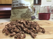 SANTIAGO DRIED REFRIED BEANS OUT OF PKG.