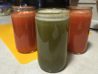 CARROT JUICE AND MIXED GREEN JUICE