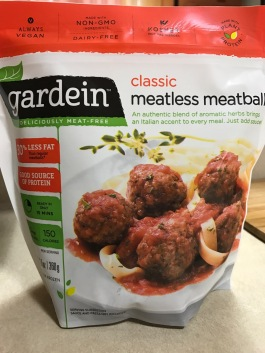 GARDEIN MEARTLESS MEATBALL PKG.