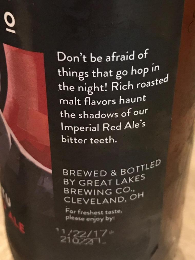 photo by THE ANIMAL-FREE CHEF GREAT LAKES NOSFERATU RED ALE 2