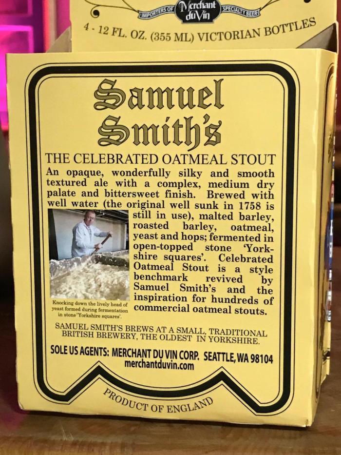 SAMUEL SMITH'S OATMEAL STOUT 2