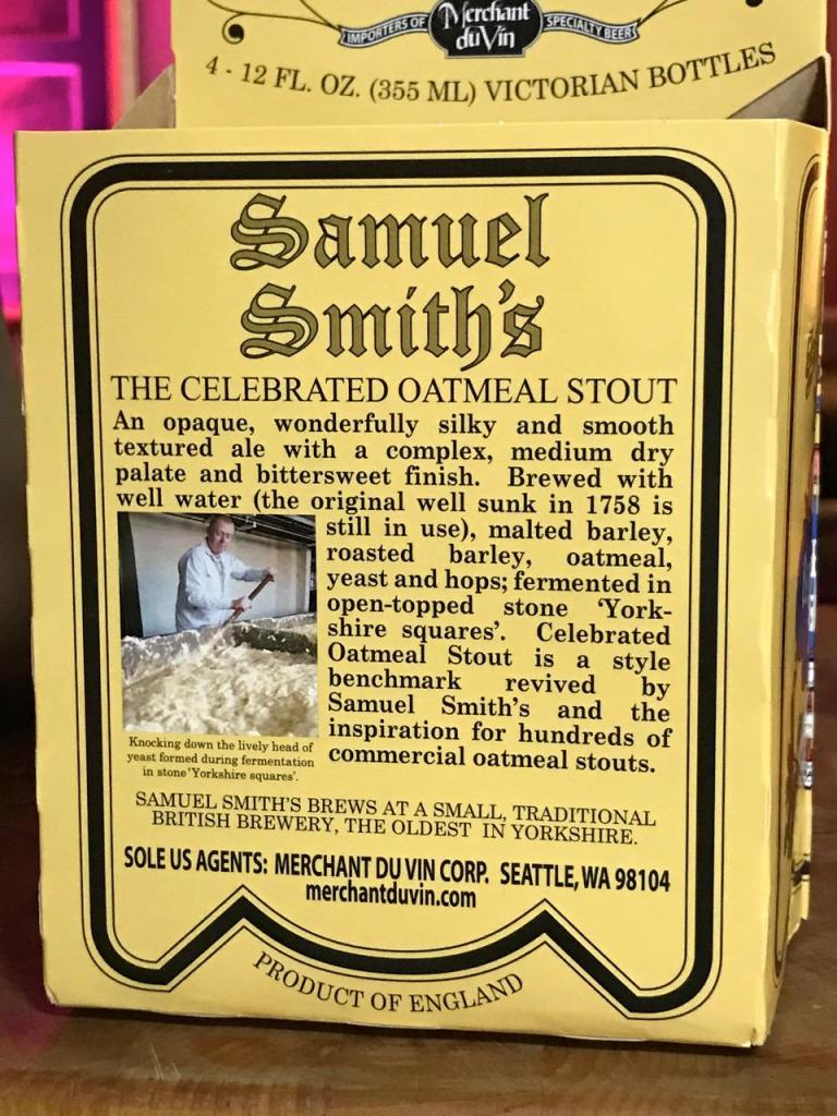 SAMUEL SMITH'S OATMEAL STOUT 2