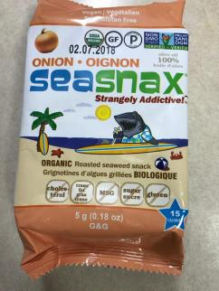 SEASNAX ORGANIC ROASTED SEAWEED