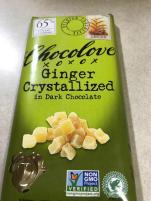CHOCOLOVE GINGER CRYSTALLIZED IN DARK CHOCOLATE 1