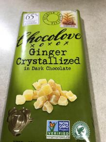 CHOCOLOVE GINGER CRYSTALLIZED IN DARK CHOCOLATE 1