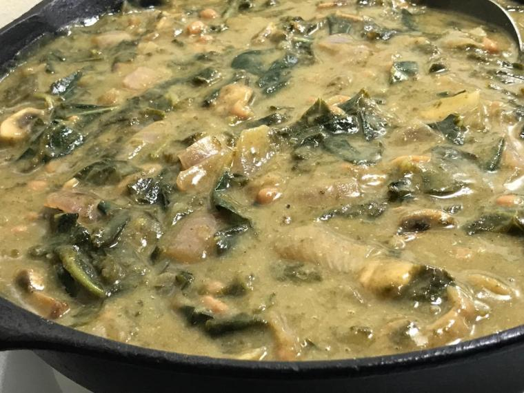 COLLARDS IN MUSTARD CIDER SAUCE 1
