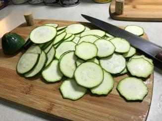 FRESH ZUCCHINI WAFERS
